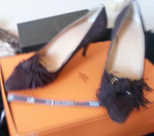 Hermès Shall We Dance Collection 2007 Chocolate Euro Size 40 Us Size 10 Career Work Classic Low Heels Brown Pumps Image 1