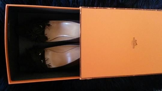 Hermès Shall We Dance Collection 2007 Chocolate Euro Size 40 Us Size 10 Career Work Classic Low Heels Brown Pumps Image 10