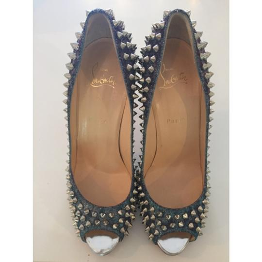Christian Louboutin Spikes Loubs Party Metallic silver Pumps Image 1