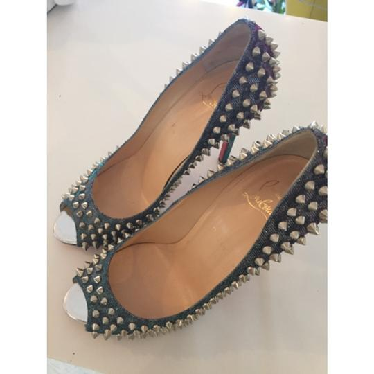 Christian Louboutin Spikes Loubs Party Metallic silver Pumps Image 2