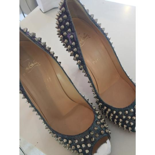 Christian Louboutin Spikes Loubs Party Metallic silver Pumps Image 4