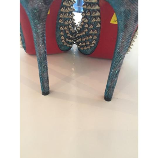 Christian Louboutin Spikes Loubs Party Metallic silver Pumps Image 6