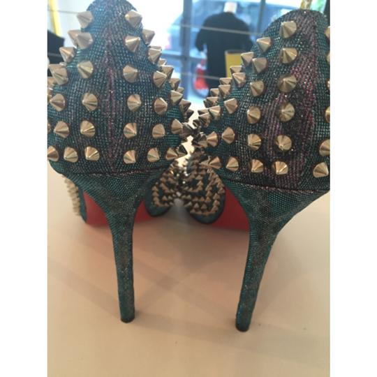 Christian Louboutin Spikes Loubs Party Metallic silver Pumps Image 9