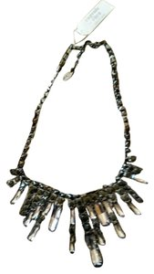 Cära Couture Jewelry Capsule by CARA Gunmetal Waterfall Necklace