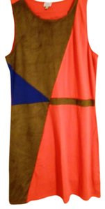 Daniel Cremieux short dress Brown/Blue/Red on Tradesy