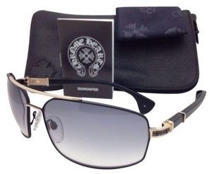 Chrome Hearts New CHROME HEARTS Sunglasses THE BEAST III MBK/GP-MBK-P Black & Gold Aviator Frame