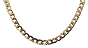 14K Solid Yellow Gold ~3.50MM Cuban Curb Link 22 Inch