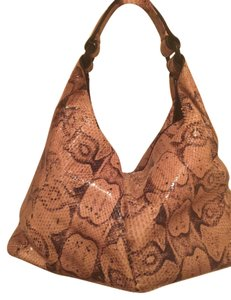 Bottega Veneta Snakeskin Snakeskin Hobo Shoulder Bag