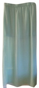 Express Sheer Side Slit Maxi Skirt Mintish Green
