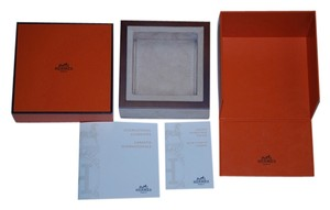 Hermès HERMES Wood Watch Signature Presentation Box