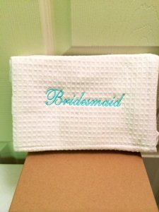 White Bridesmaid Cosmetic Bag Luggage