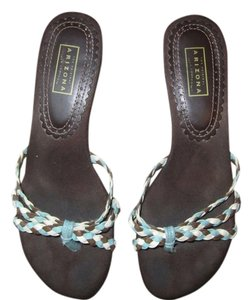 Arizona Jean Company Flip Flop Braided Kitten 7 Brown Sandals