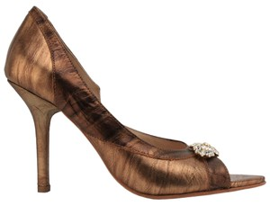 MS Shoe Designs bronze Pumps