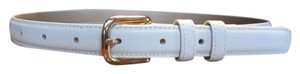 Other Ivory gold real leather womens dress belt M