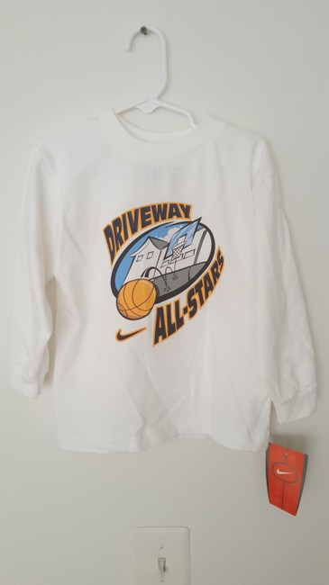 Nike Tpddler Boy Longsleeve T Shirt White and Blue