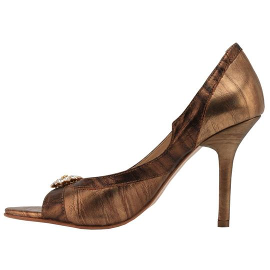 MS Shoe Designs bronze Pumps Image 1