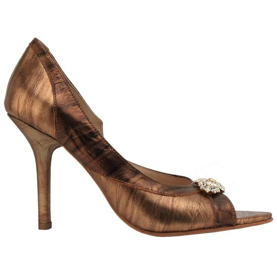 MS Shoe Designs bronze Pumps Image 3