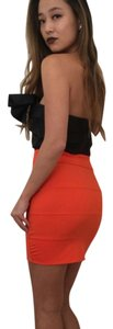 Pleasure Doing Business Mini Skirt Orange