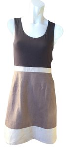 Cynthia Rowley short dress sand, light charcoal, & linen beige on Tradesy