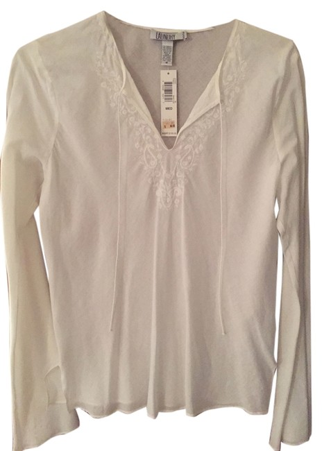 Preload https://img-static.tradesy.com/item/8829418/laundry-by-shelli-segal-white-peasant-style-casual-daytime-night-out-tunic-size-8-m-0-4-650-650.jpg