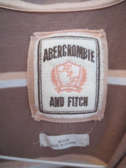 Abercrombie & Fitch T Shirt Tan striped