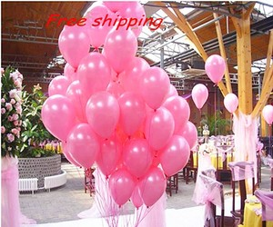 """Pink 12 Pcs - 12"""" Hot / Fuchsia Birthday Party Decor Latex Balloons Ceremony Table Top Ceiling Arch Centerpiece"""