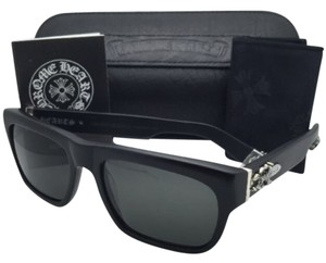 Chrome Hearts New CHROME HEARTS Sunglasses SLUSS BUSSIN Matte Black w/ Grey Lenses Sterling Silver