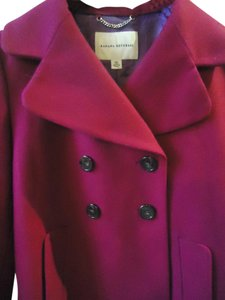 Banana Republic Wool Blend Jacket Pea Pink Double Breasted Pea Coat