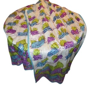 Vintage scarf adorable purple blue green cottage print so cute! Get tons of compliments with this scarf