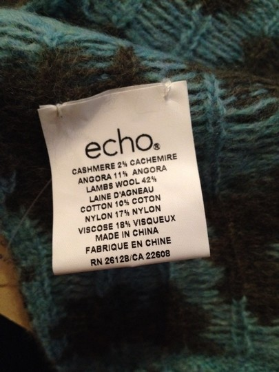 Echo Design Echo Scarf, Teal And Green, New With Tags Image 4
