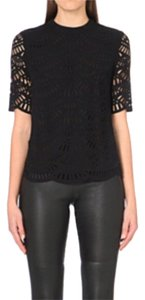 Reiss Crepe Top Black