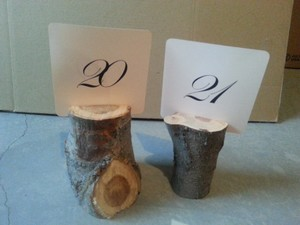 8 Wood Table Number Holders
