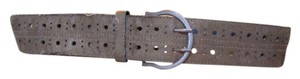 Other Brown bronze swede like fully adjustable belt with bronze metallic slight threads 43 long 2 wide