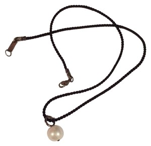 Ippolita Pearl Drop Silk Chord Necklace
