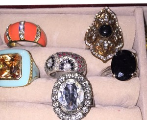 Lot Of 6 Rings (multiple Sizes From 6.5-7.5)