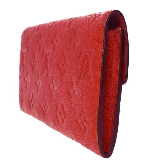 Louis Vuitton Curieuse Long Bifold Wallet Purse Monogram Empreinte Red Mens Image 2