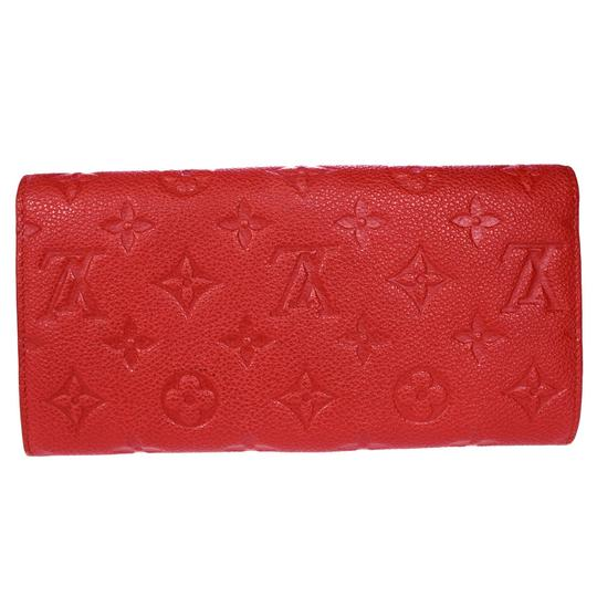 Louis Vuitton Curieuse Long Bifold Wallet Purse Monogram Empreinte Red Mens Image 3