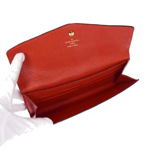 Louis Vuitton Curieuse Long Bifold Wallet Purse Monogram Empreinte Red Mens Image 7