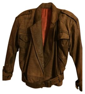 Shin IL Brown Leather Jacket