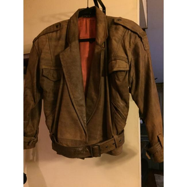 Shin IL Brown Leather Jacket Image 1