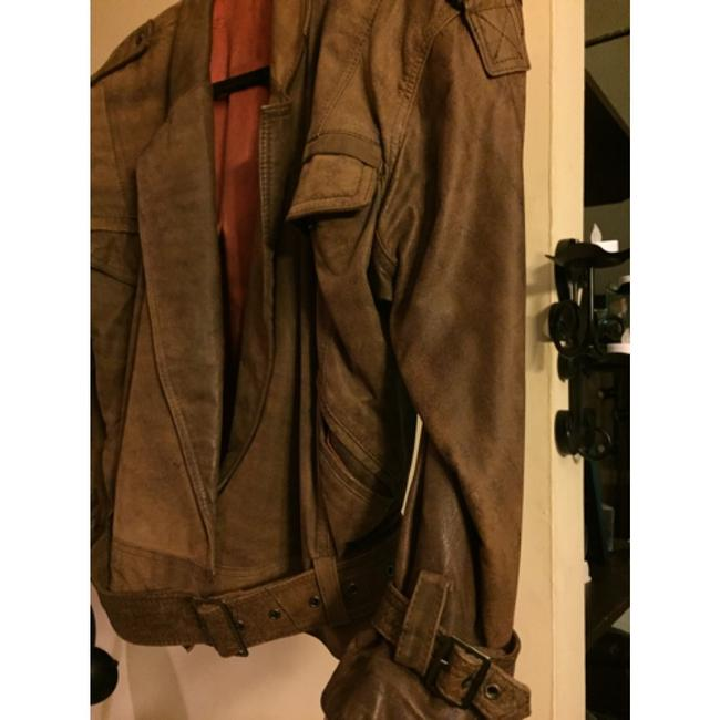 Shin IL Brown Leather Jacket Image 2