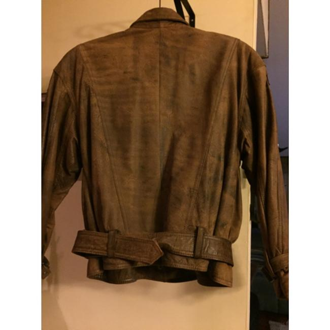 Shin IL Brown Leather Jacket Image 3