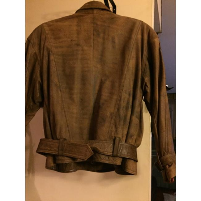 Shin IL Brown Leather Jacket Image 4