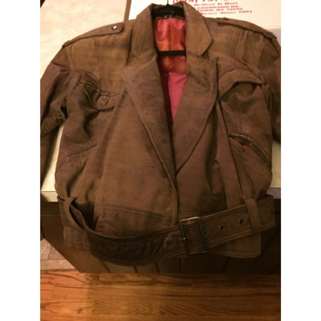 Shin IL Brown Leather Jacket Image 5