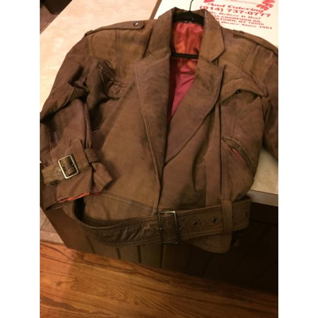Shin IL Brown Leather Jacket Image 6