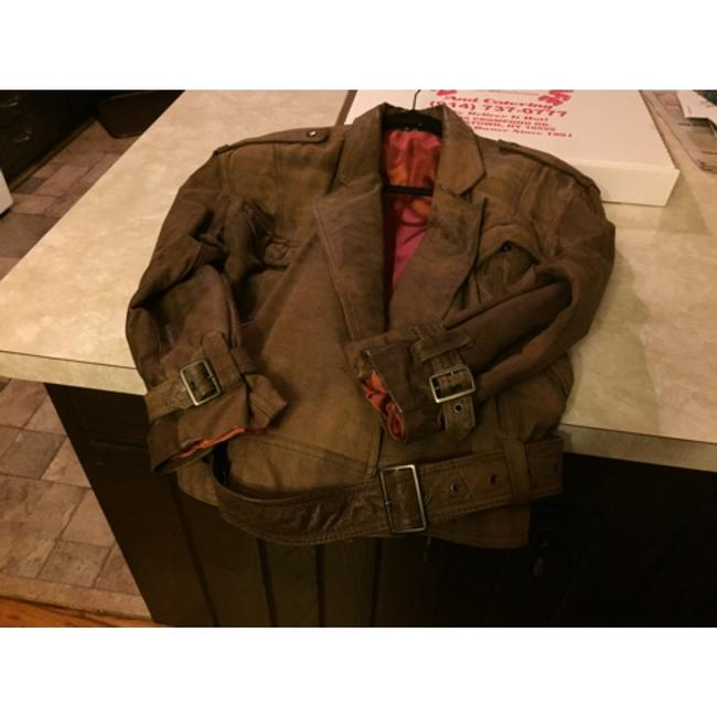 Shin IL Brown Leather Jacket Image 7
