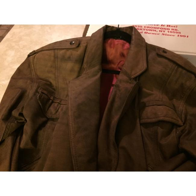 Shin IL Brown Leather Jacket Image 8
