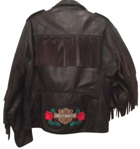 Brooks Leather Harley-davidson Bikers Motorcycle Jacket