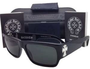 Chrome Hearts New Authentic CHROME HEARTS Sunglasses BJORN AGAIN BK 57-16 Black Frame w/ Grey Lenses