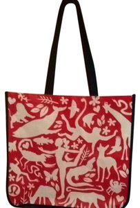 Lululemon Tote in Red White Black